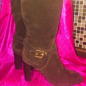 Shoes - Incredible Suede Coach Boots!